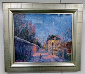 上森画伯の夜の散歩という絵。