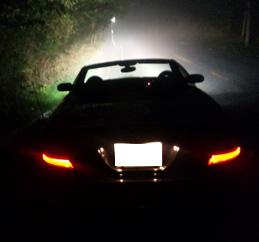 六甲山ドライブウエイの霧の一コマ