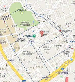 神戸医院周辺図