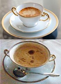 通常のカップ(上)と私専用のダブルのカップ(下)