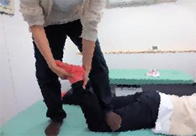 マタギの捻挫治療法