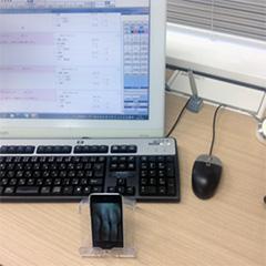 iPod touchで撮った患者さんの手の写真。