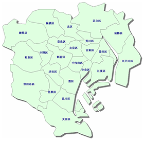 東京23区地図